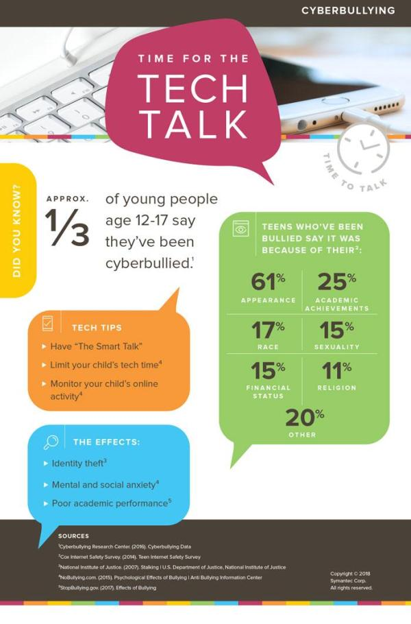 Cyberbulling infographic